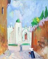 Quadro di  Rodolfo Marma - Le carceri - Prato Óleos tela